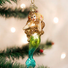 Sexy Mermaid Glass Ornament Old World Christmas NEW IN GIFT BOX