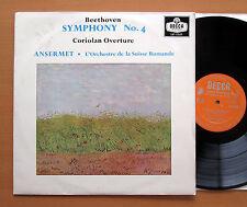 LXT 5507 Beethoven Symphony no. 4 Ansermet Suisse Romande 1959 Decca Mono EX/VG