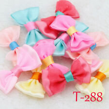 10/30P Mini Satin Ribbon Flowers Organza Bows Appliques/craft/Wedding Decoration