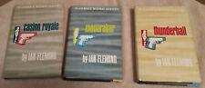 Ian Fleming James Bond books lot of 3 Casino Royale,Moonraker,Thunderball