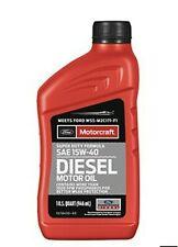 13 Quarts Diesel Engine Motor Oil FORD/Motorcraft SAE15W-40 Super Duty