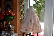 blouse bonpoint 6 ans ou robette hauteur 41 beige fleurs en bas tres printemps e