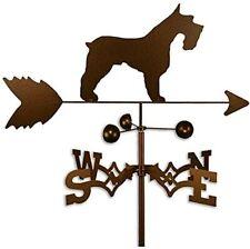 Schnauzer Dog Weathervane Wind Direction Nsew Steel Garden Yard Decor Rustic Usa