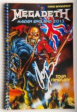 SIGNED! MEGADETH CHRIS BRODERICK's itinerary book 2013 Iron Maiden England tour!