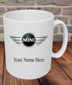 Personalised Mini Car Logo Cooper S Mug Dad Grandad Mum Present Gift Friend Name