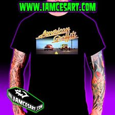 American Graffiti Men's 100% Cotton Tee DTG Hotrods Race Movie iamcesart