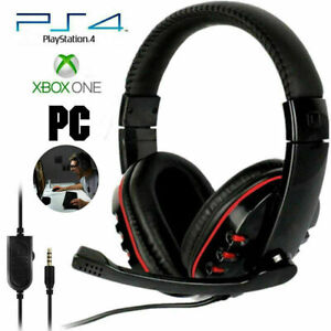 Pro Gaming Headset Nintendo Switch with Soft memory earmuffs with Mic