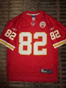 Dwayne Bowe #82 Kansas City Chiefs Reebok on field NFL Jersey M Med mens