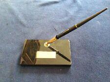 Vintage Fountain Pen Nib 14K Desk  Black/Gold Base