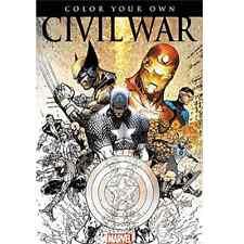 Captain America Civil War Marvel Avengers Adult Colouring Book Comic Spiderman