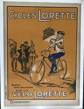 Original Vintage Poster Cycles Lorette ca. 1930