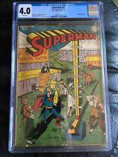 SUPERMAN #31 CGC VG 4.0; White pg!; Wayne Boring circus cvr; Luthor app.!