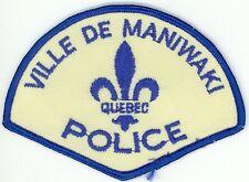 Ville de Maniwaki Police, Quebec, Canada HTF Vintage Uniform/Shoulder Patch