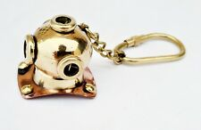 Shiny Brass Diving Helmet Key Chain Nautical Car Keyring Keychain Gifted Item