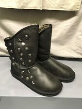 Australia Luxe Collective Angel Short Distressed Black Boot Bootie Studs 11 42