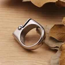 Hot Men Cigarette Lighter Fashion Ring Cool Style Biker Silver Polishing Plated