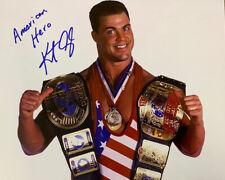 More details for kurt angle american hero promo autographed pro wrestling signed wwf wwe coa