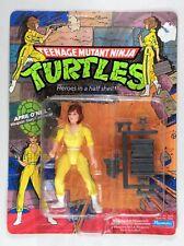 Playmates Toys TMNT Teenage Mutant Ninja Turtles  April 10-back blue stripe