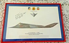 Framed F-117A Nighthawk 7th Combat 49th Fighter Wing Signed BG Mark Buck Rogers