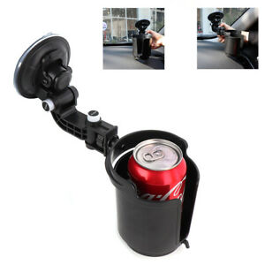 1x Black Adjustable Car Vehicle Window Suction Cup Mount Drink Beverage Holder
