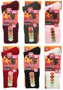 Ladies Merino Wool Socks, 1-3-6 Pack Outdoor Walking Work Boot Socks, UK 4-8
