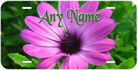 Purple Flowers Aluminum Any Name Personalized Novelty Car License Plate