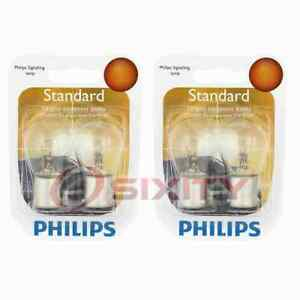 2 pc Philips Rear Turn Signal Light Bulbs for Sunbeam Arrow 1967-1970 pc