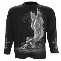 Spiral Direct ENSLAVED ANGEL Long Sleeve T-shirt/Biker/Tattoo/Tribal/Goth/Wings
