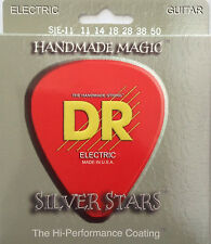 DR SIE-11 Extra Life Silver Stars Coated Guitar Strings 11-50 heavy