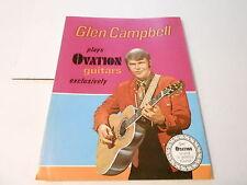 VINTAGE MUSICAL INSTRUMENT CATALOG #10197 -1960s OVATION GUITARS - GLEN CAMPBELL