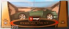FERRARI 456 GT 1992 BY BURAGO SCALE 1/18 1:18 VERDE MET