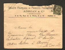 "PARIS (III°) PRODUITS PHARMACEUTIQUES ""ADRIAN & Cie / C. GALLOIS & Cie"" 1916"