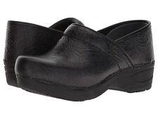 Dansko Professional XP 2.0 BLACK FLORAL Womens Leather Slip Resistant Clogs Shoe