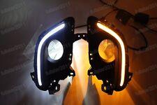 DRL LED Daytime Running Light Fog Turn Signal Lamp For Mazda 6 M6 2013-2015