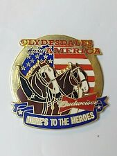 Budweiser Bud Beer Clydesdales Across America Here's to the Heroes Lapel Pin