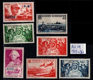 ALGÉRIE : L'ANNÉE 1949, Neufs * = Cote 36 € / Lot Timbres COLONIES