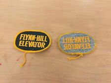 elevator patch, flynn hill, new old stock, 1960's