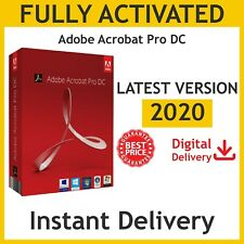 Abobe Acrobat Pro DC 2020 Pre Activted & Lifetime, WIN & MAC, Fast Delivery
