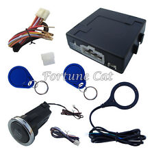 Rfid Car Alarm System With Push Start Button & Transponder Immobilizer System