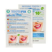 ToothFiX TEMPORARY FALSE TEETH MISSING TOOTH FILLER COSMETIC REPAIR DENTURE