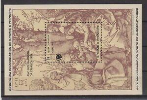 St. Tomas & Prinzen Insel: Block 40 ** postfrisch / Albrecht Dürer