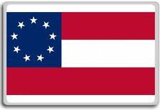 1st National Flag (9 Stars) Confederate flag fridge magnet