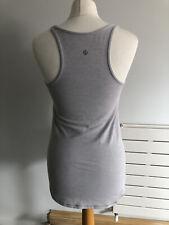 Original Lululemon Ladies Light Grey Sports Stretch Sleeveless Top Size S/ M