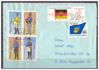 DDR, MiNr. 2997 - 3002 TSt Aken nach Wuppertal 24.02.1986