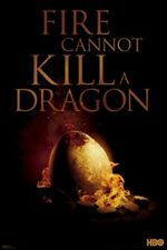 GAME OF THRONES POSTER ~ FIRE CANNOT KILL A DRAGON 24x36 TV Egg George Martin