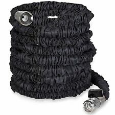25 ft Flexible, Heavy Duty, Collapsible, Shrinking Garden Hose, Nickel Fittings
