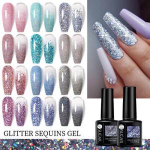 UR SUGAR 7.5ml Glitter Sequins UV Nail Gel Polish Bling Holo Soak Off UV LED DIY