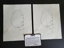 Hannibal Set Prop Will Graham Clock Drawings Set of 2 with COA