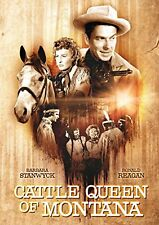 CATTLE QUEEN OF MONTANA Barbara Stanwyck Ronald Reagan DVD in Inglese NEW .cp