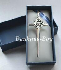 KILT PIN PEWTER CELTIC ENAMEL TARGE SWORD MADE IN SCOTLAND Sgian Dubh Company